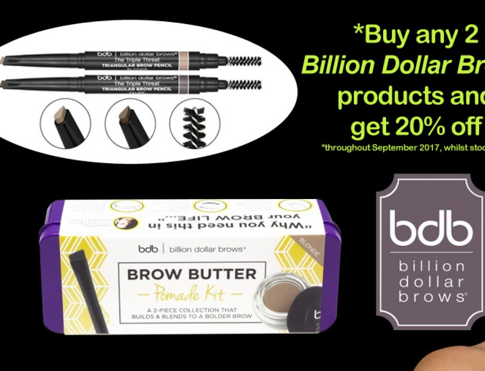 Get 20% off Billion Dollar Brows product from Beauty Spot