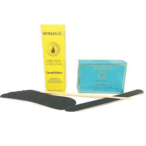 spongelle manicure and pedicure kit